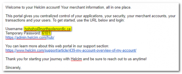 Signing up with Helcim – Zone4 Help